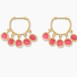 Gorjana Sayulita Huggies • Pink Enamel • NWT!